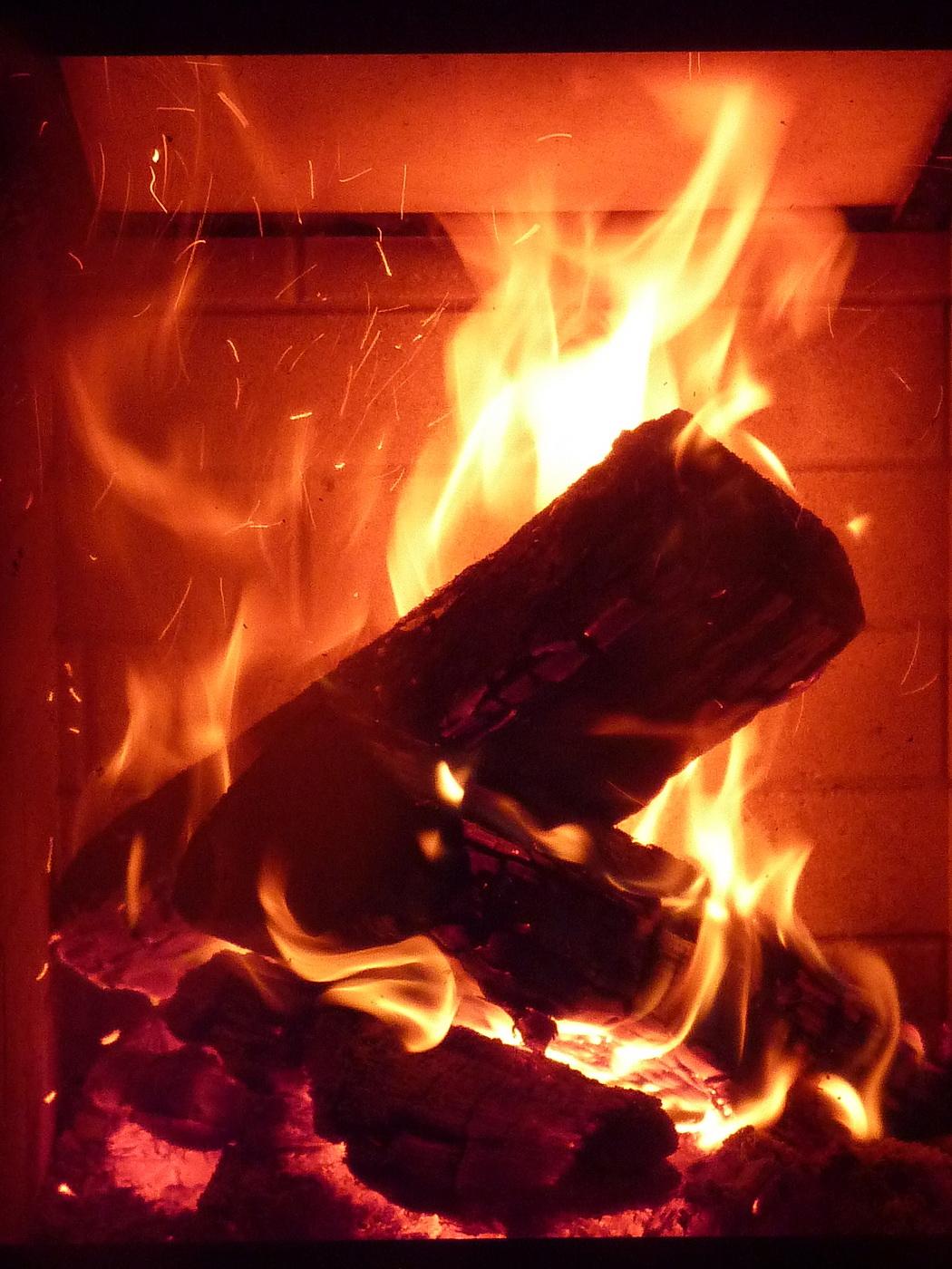 Genießen Sie ein gemütliches Kaminfeuer am Abend!